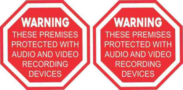 Audio and Video Recording Vinyl Stickers
