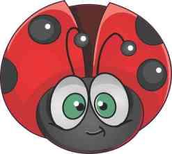Ladybug Vinyl Sticker