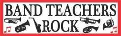 Band Teachers Rock Magnet