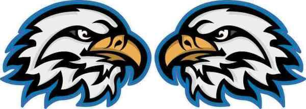 Eagle Mascot Vinyl Stickers