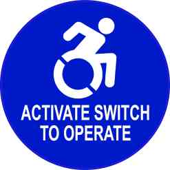 Dynamic Disability Activate Switch to Operate Vinyl Sticker