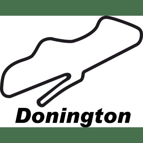 Donington park circuit outline