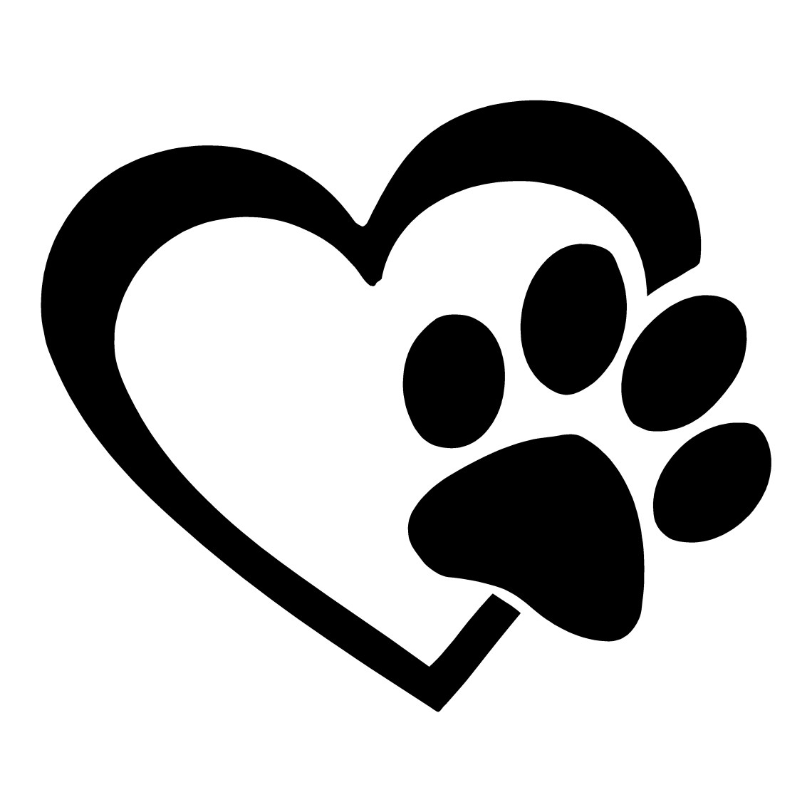 Download Paw Print Heart | Animal Stickers | Dogs | Cats | Car Decals