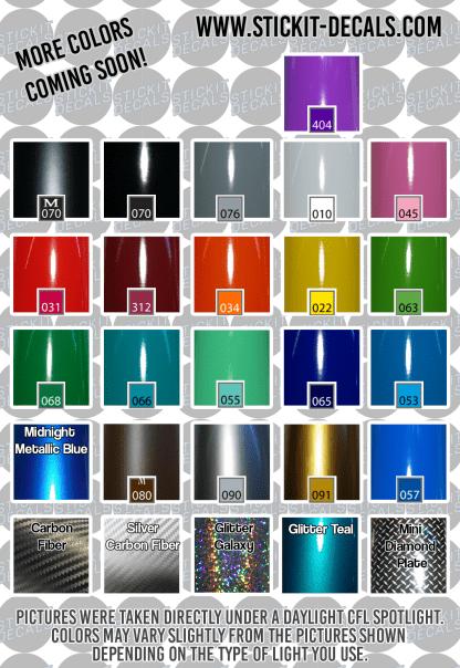 Vinyl Colors Chart