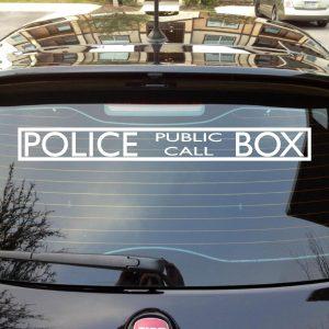 Dr who tardis call box police decal sticker