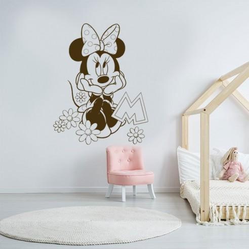 sticker minnie pour decoration chambre de fille stickers deco enfant