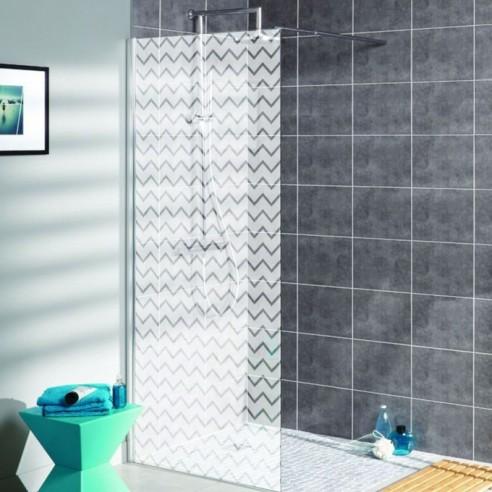 sticker depoli venitien pour decoration paroi de douche stickers vitre