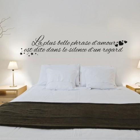 Stickers muraux citation  La plus belle phrase