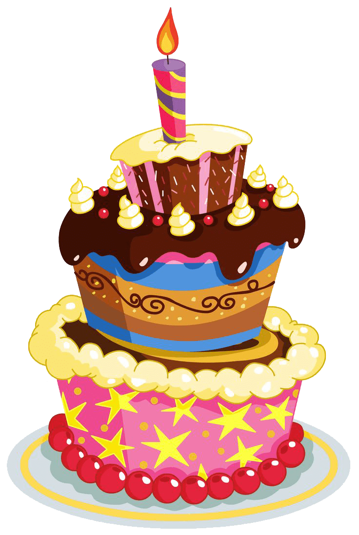 Birthday Cake Layers Transparent Png Stickpng