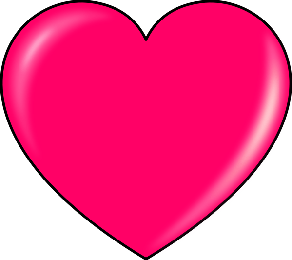 pink heart clipart transparent