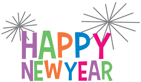 Happy New Year Clipart Colourful transparent PNG StickPNG