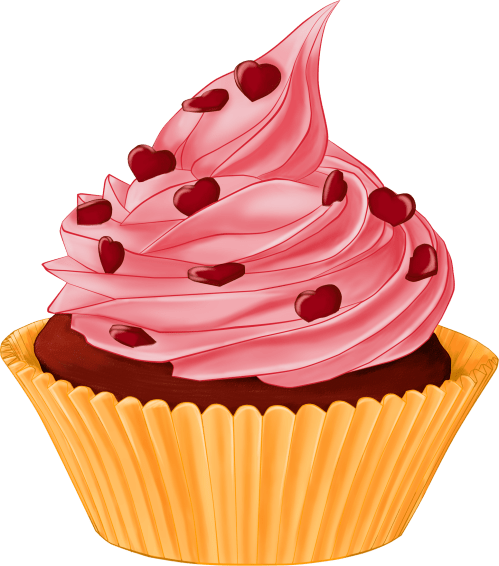 small resolution of cartoon cupcake heart topping