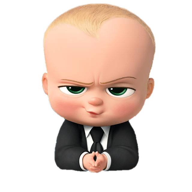 boss baby angry look