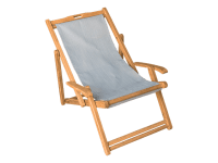 Simple Teak Beach Lounge Chair transparent PNG - StickPNG