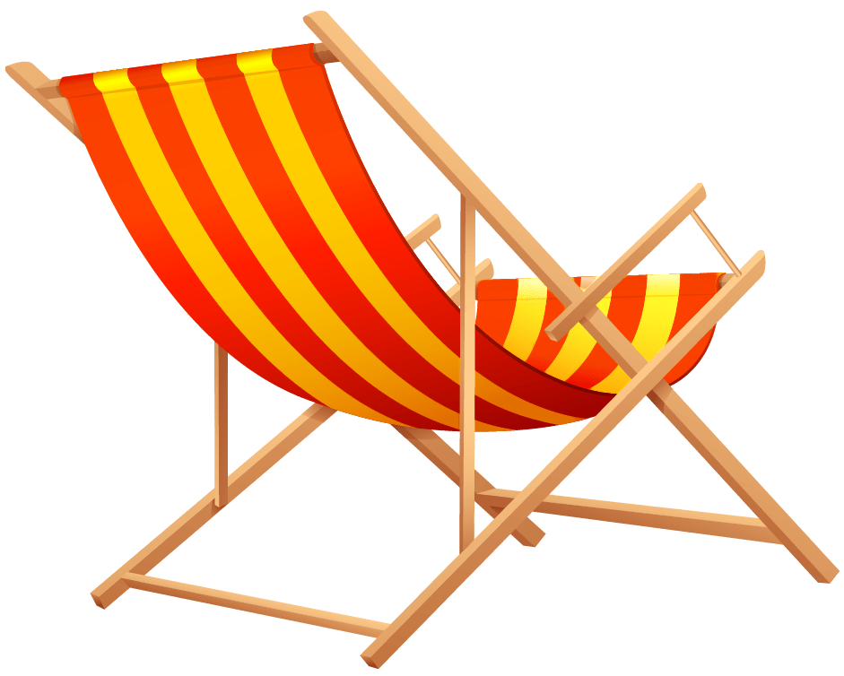 Orange Beach Lounge Chair transparent PNG  StickPNG