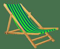 Green Beach Lounge Chair transparent PNG - StickPNG