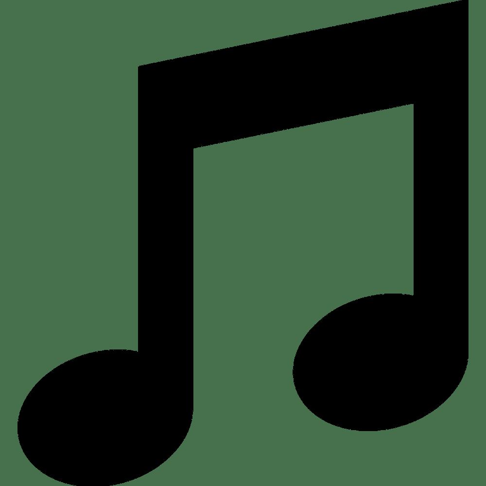 medium resolution of musical notes 2 half notes clipart