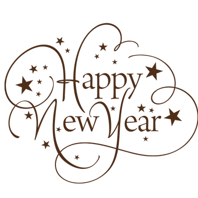 Happy New Year Champagne Two Glasses transparent PNG