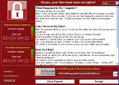 Win32/WannaCrypt, WannaCry, WCry