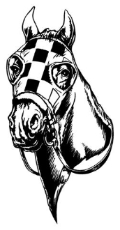 Horse Racing 5 Decal Sticker