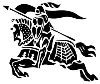 Jousting Knight 3 Decal Sticker
