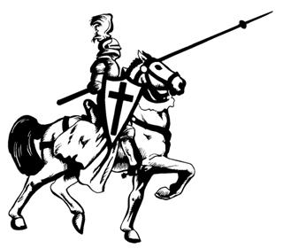 Jousting Knight 4 Decal Sticker