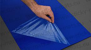 Blue sticky mat