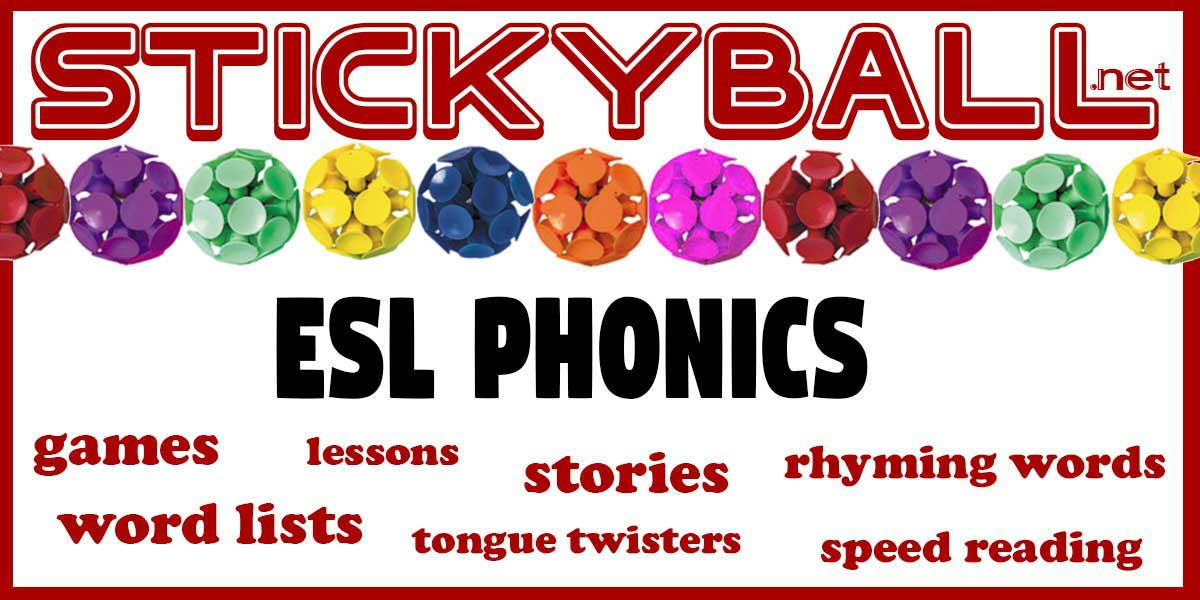 ESL Phonics: Worksheets, Ebooks, Flashcards, and Games -