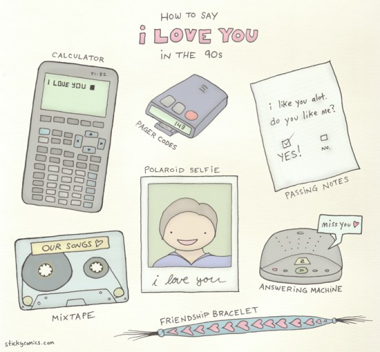 Not pictured: the love note fax :)