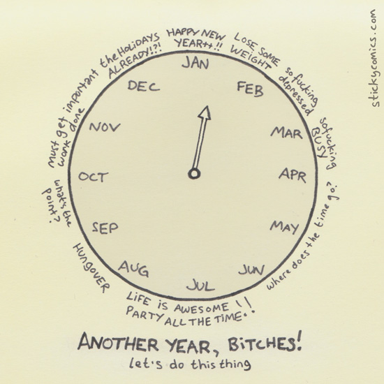I wish my clock would get stuck in July but I'd probably wind up in mid-August