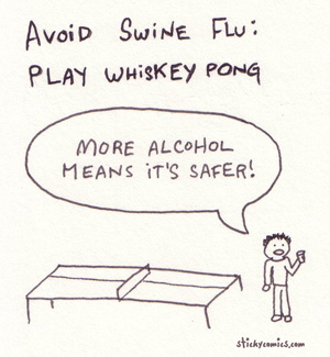 whiskey pong - it's more sanitary than beer pong
