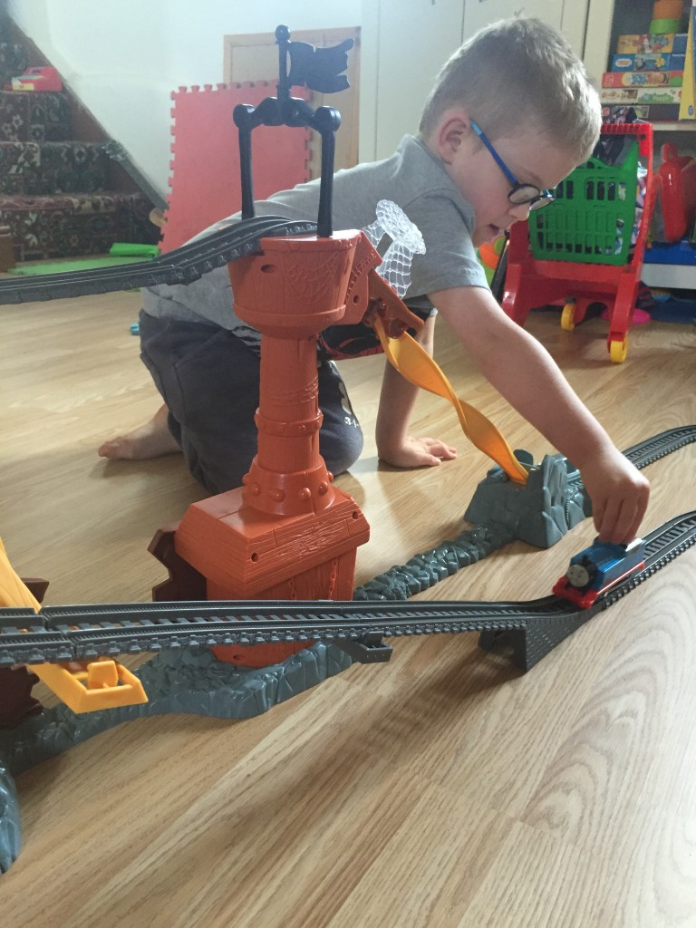 playing with thomas