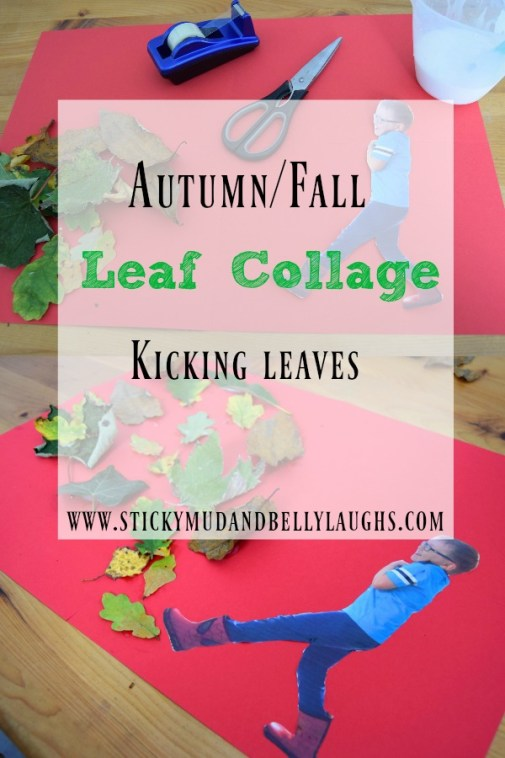 Kids Crafts - Fall/Autumn Leaf Collage. A really easy and fun activity to do with the little one/s