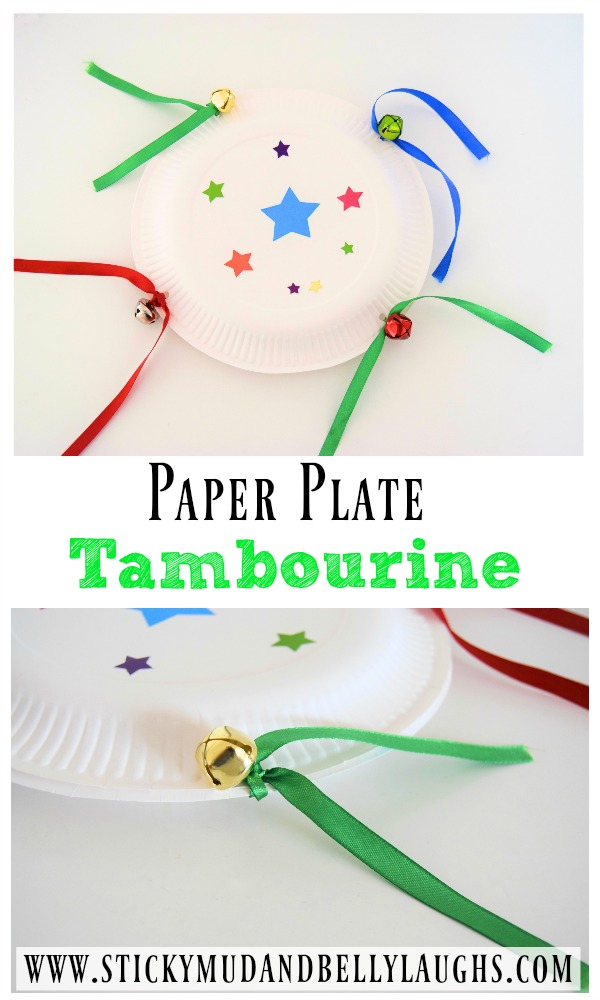 diy tambourine paper plate craft sticky mud and belly laughs