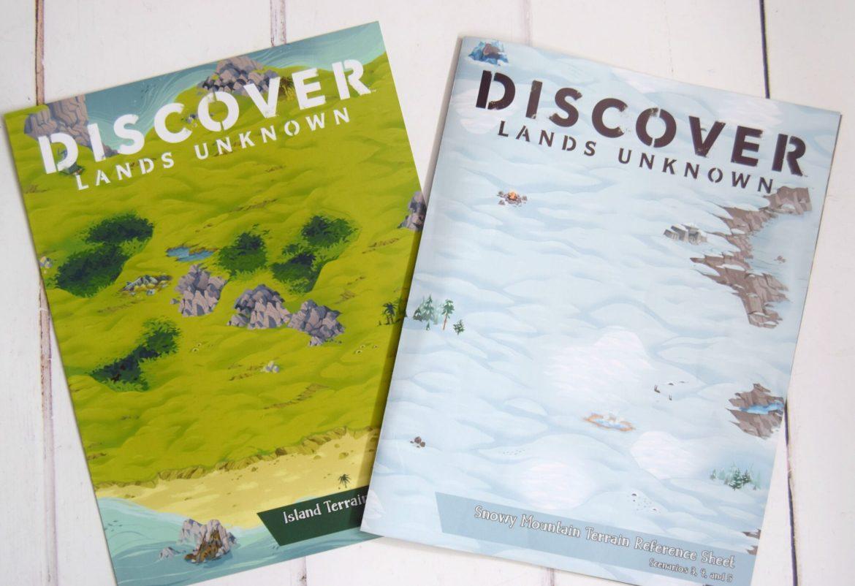 Discover Lands Unknown terrains leaflets.