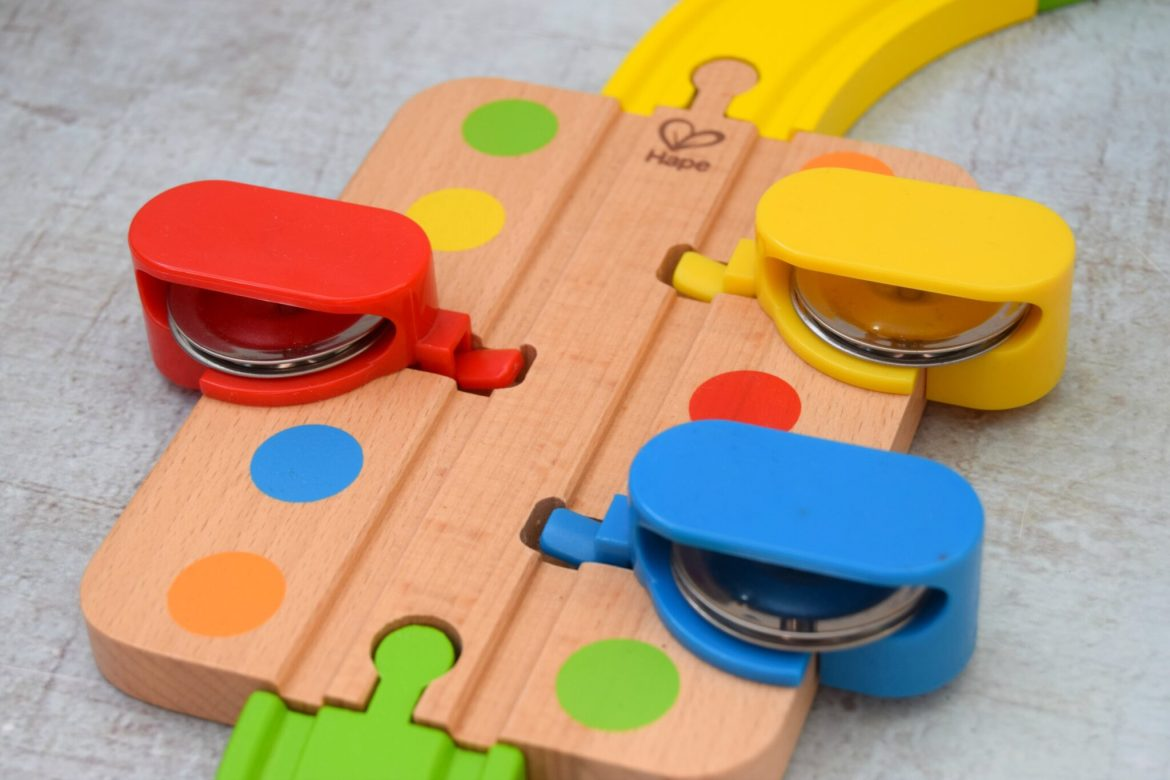 Hape musical railway track toy