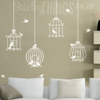Bird Cage Wall Art Decal Sticker
