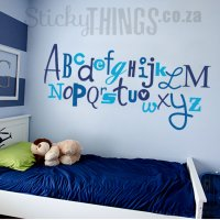 Childrens Vinyl Wall Art Alphabet - StickyThings.co.za