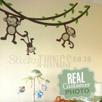 Monkey Nursery Wall Art Sticker - StickyThings.co.za