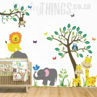 Safari Jungle Nursery Wall Sticker - StickyThings.co.za