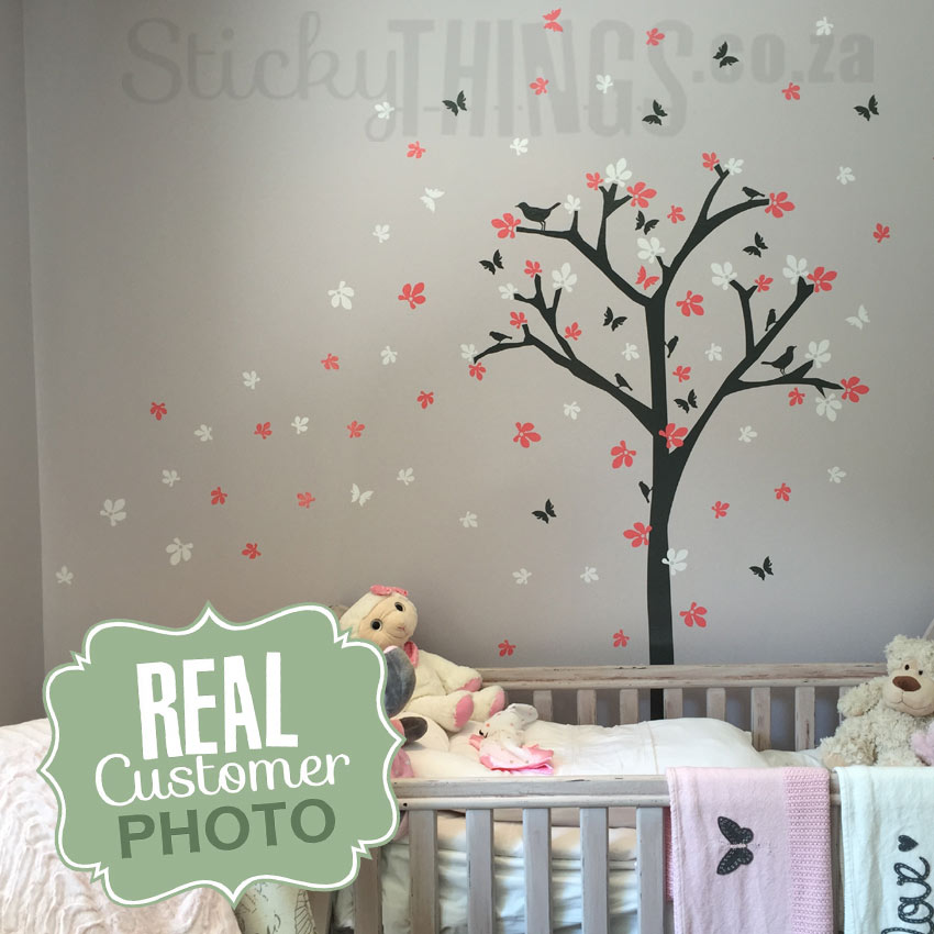 Flower Tree Wall Sticker