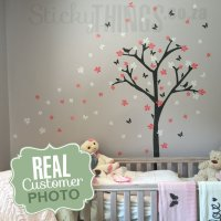 Flower Tree Wall Sticker - StickyThings.co.za