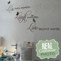 Live Laugh Love Wall Sticker - Love Quote Decal from ...