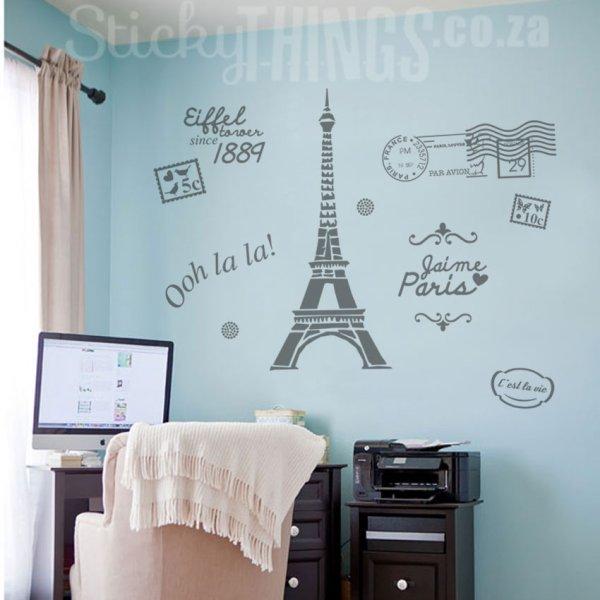 Paris Wall Art - Decal Sticker Stickythings