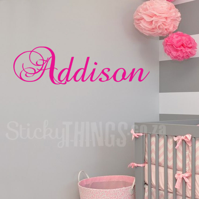 Personalised Name Wall Decal  Small  StickyThingscoza