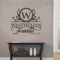 Afrikaans Surname Wall Art - Surname Decal from ...