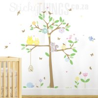 Baby Owl Tree Wall Decal  StickyThings Wall Stickers ...