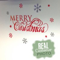 Merry Christmas Quote Wall Art Decal - StickyThings .co.za