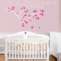 Cherry Blossom Branch Wall Sticker - StickyThings.co.za