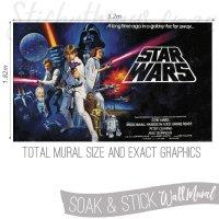 Star Wars Wall Mural - Classic Star Wars Wallpaper Mural ...